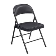 National Public Seating Commercialine Vinyl Upholstered  Folding Chair, Blue 4/Pack (954/4)