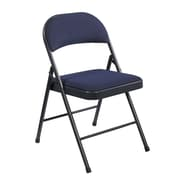 National Public Seating Commercialine Fabric Upholstered  Folding Chair, Blue 4/Pack (964/4)