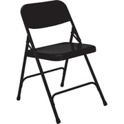 National Public Seating 200 Series All Steel Premium Folding Chair, Black 100/Pack (210/100)