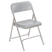 National Public Seating 800 Series Steel Frame Plastic Folding Chair, Grey 52/Pack (802/52)