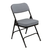 "National Public Seating 3200 Series Steel Frame 2"" Fabric Padded Folding Chair, Grey 52/Pack (3212/52)"