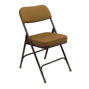 "National Public Seating 3200 Series Steel Frame 2"" Fabric Padded Folding Chair, Brown 52/Pack (3219/52)"