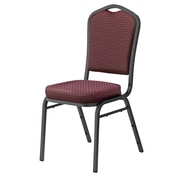 National Public Seating 9300 Series Silhouette Stack Chair Upholstered, Diamond Burgundy 40/Pack (9364-SV-NB/40)