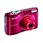 Nikon COOLPIX L32 20.1MP 720P HD Video w/ 5X Zoom Digital Camera (Red) Refurbished
