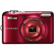 Nikon COOLPIX L30 20.1MP 5x Opt Zoom HD 720p Digital Camera (Red) Refurbished