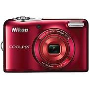 Nikon COOLPIX L30 20.1MP 5x Opt Zoom HD 720p Digital Camera (Red) Refurbished