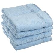 Simple Luxury Superior Hand Towel (Set of 8); Light Blue
