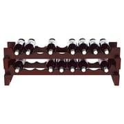 Wine Enthusiast Companies Stackable Rack 18 Bottle Tabletop Wine Rack; Mahogany