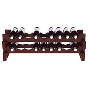 Wine Enthusiast Companies 18 Bottle Wine Rack; Mahogany
