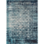 Well Woven Sydney Manchester Modern Distressed Royal Blue Area Rug; 5'3'' x 7'3''