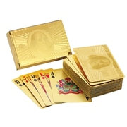 American Coin Treasure Ben Franklin 24 Kt Gold Foil Playing Cards