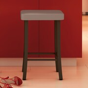 Amisco Urban Style 30'' Bar Stool with Cushion; Grey
