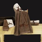HiEnd Accents Deer 3 Piece Towel Set; Brown