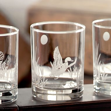 Rolf Glass Duck Double Old Fashioned Glass (Set of 4)