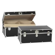 Buyers Choice Artisans Domestic Heirloom Steamer Trunk; Black