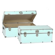 Buyers Choice Artisans Domestic Heirloom Steamer Trunk; Blue