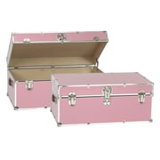 Buyers Choice Artisans Domestic Heirloom Steamer Trunk; Pink