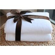 Linum Home Textiles Luxury Hotel & Spa 100pct Turkish Cotton Soft Twist Bath Towel (Set of 2); White
