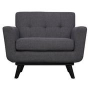 TOV James Arm Chair; Grey