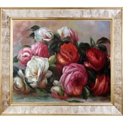 Tori Home Discarded Roses by Renoir Painting Print on Canvas