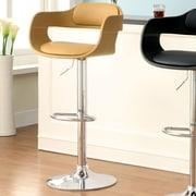 Hokku Designs Ryanne Adjustable Height Swivel Bar Stool with Cushion; Camel
