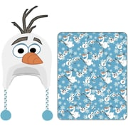 Linen Depot Direct Frozen Olaf Cuddle Beanie Hat and Throw