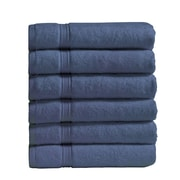 Vivendi Turkish Cotton Hand Towel (Set of 6); Blue