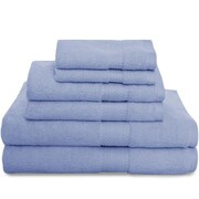 Revere Mills Montgomery 6 Piece Towel Set; Blue Glow