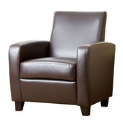 Abbyson Living Mercer Arm Chair; Dark Brown