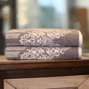 Linum Home Textiles Gioia Bath Towel (Set of 2); Vintage Brown