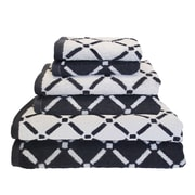 Simple Luxury Superior Luxurious Diamonds 6 Piece Towel Set; Charcoal/White