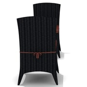 Harmonia Living Arbor Dining Side Chair with Cushion (Set of 2); Canvas Henna