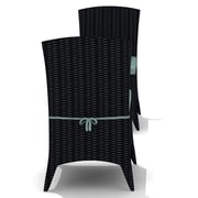 Harmonia Living Arbor Dining Side Chair with Cushion (Set of 2); Canvas Spa