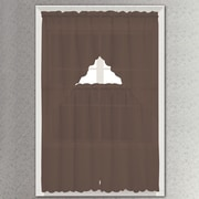 Kashi Home Nina Drape/Curtain Set; Chocolate