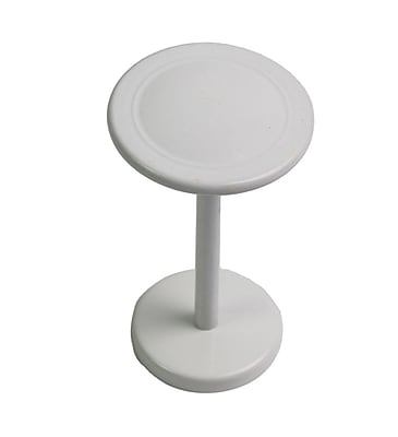Urbanest Button Medallion Curtain Holdback (Set of 2) ; Glossy White