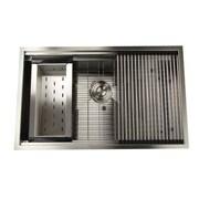 Nantucket Sinks Pro Series 32'' x 20'' Rectangle Single Bowl Undermount Kitchen Sink