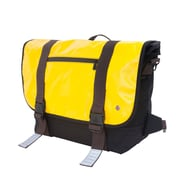 Token Lorimer Vinyl Messenger Bag Large Yellow (TK-615 YEL)