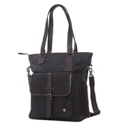 Token Amsterdam Waxed Tote Bag Black (TK-401-WX BLK)
