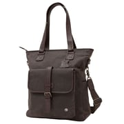 Token Amsterdam Waxed Tote Bag Dark Brown (TK-401-WX DBR)