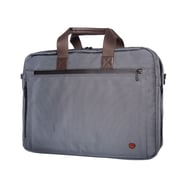 Token Lawrence Laptop Bag Large With Back Zipper Grey (TK-445Z GRY)