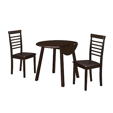 Monarch – Table à abattants en bois de 36 po de diamètre, brun (I 1004)