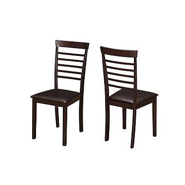 Monarch Dining Darl Brown Cappuccino Chairs, 2/Pack