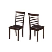 Monarch Specialties Cappuccino 2pcs Dining Chairs ( I 1175 )