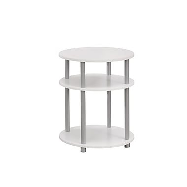 Monarch Accent Table, White with Silver (I 3132)