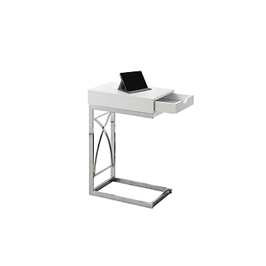 Monarch Accent Table, White and Chrome (I 3170)