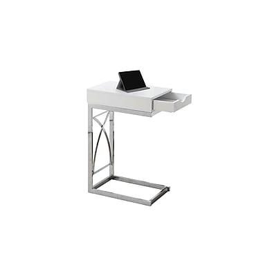 Monarch –Table d'appoint, blanc et chrome (I 3170)