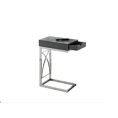Monarch Accent Table, Grey and Chrome (I 3171)