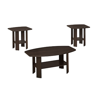Monarch Accent Table 3-Piece Set, Cappuccino (I 7924p)