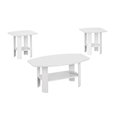 Monarch – Table d'appoint ensemble 3 pièces, blanc (I 7926P)