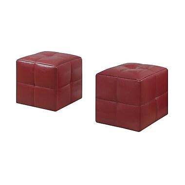 Monarch – Ensemble de poufs pour enfants 12 larg. x 12 prof. po, rouge